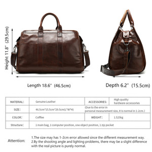 Image 4 - High Quality Classic Laptops Briefcase Genuine Natural Leather Bags Mens Travel 15.6 Inch Bag Man Business Bag For Macbook Pro