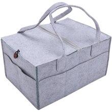 Foldable Felt Baby Diaper Caddy Organiser Removable Lid Storage Bag Kid Toys Portable Bag Box for Car Travel Changing Table Orga