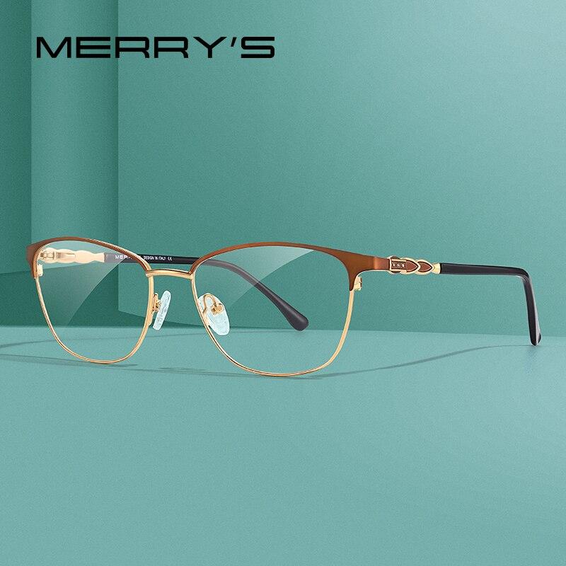MERRYS DESIGN Women Luxury Glasses Frame Ladies Fashion Trending Eyewear Myopia Prescription Optical Eyeglasses S2111