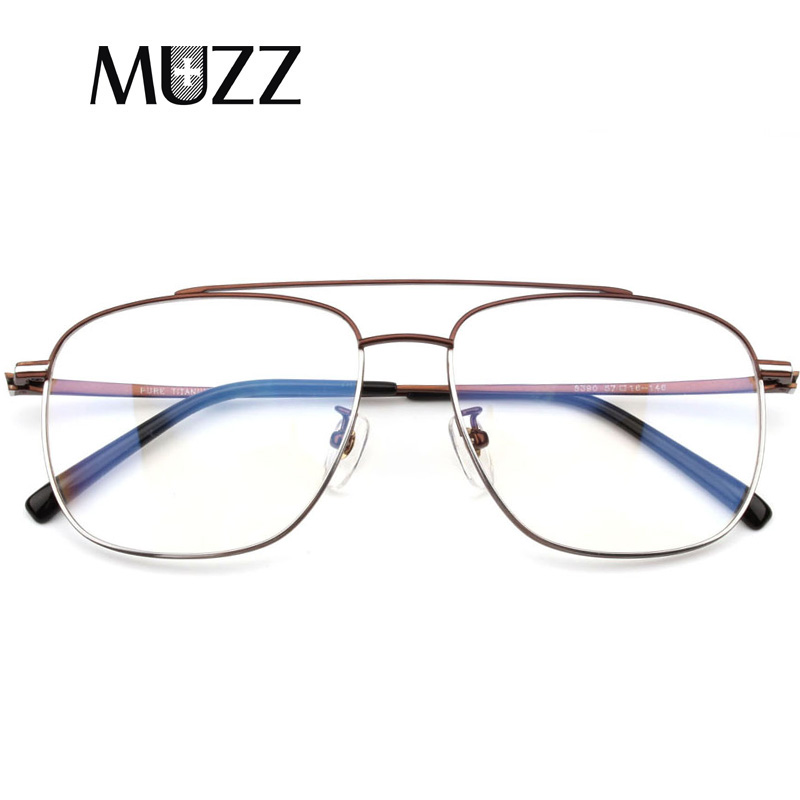 MUZZ Pure Titanium Eyeglasses Frame Men Ultralight Retro Prescription Glasses Square Myopia optical glasses frame Eyewear frame