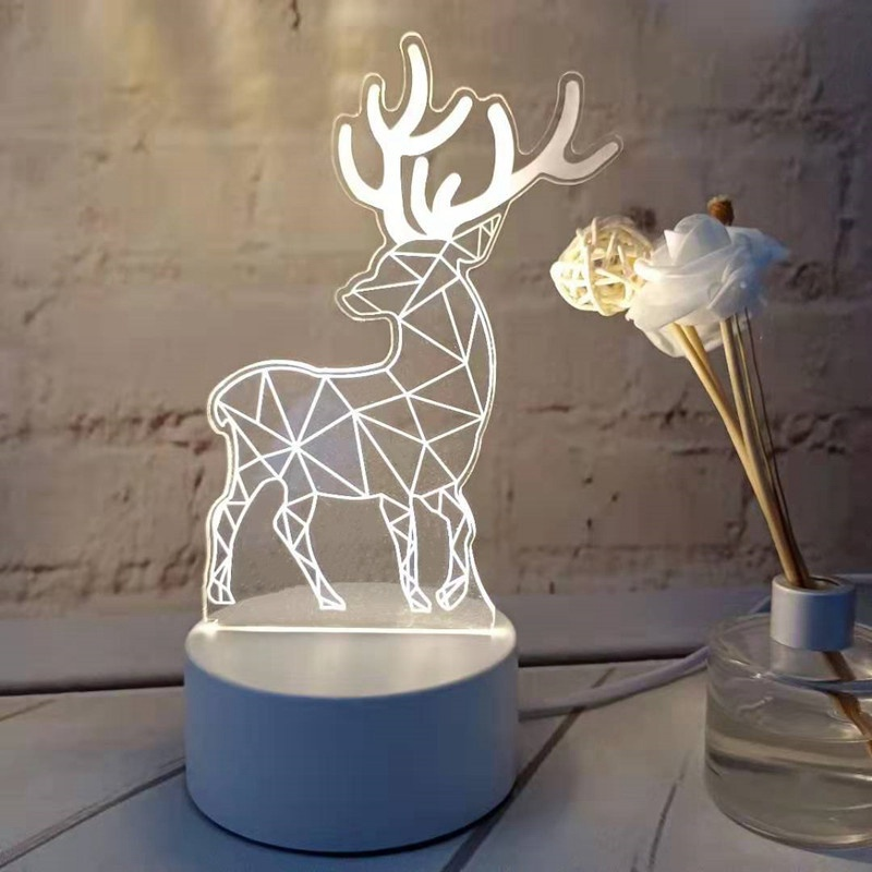 3D LED Lamp Creative 3D LED Night Lights Novelty Illusion Night Lamp 3D Illusion Table Lamp For Home Sleep Decorative Light