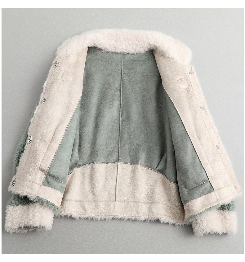 Fur Women's Coat Female Sheep Shearling Wool Coats Winter Jacket Women Clothes 2020 Korean Jackets Manteau Femme MY4223 S S
