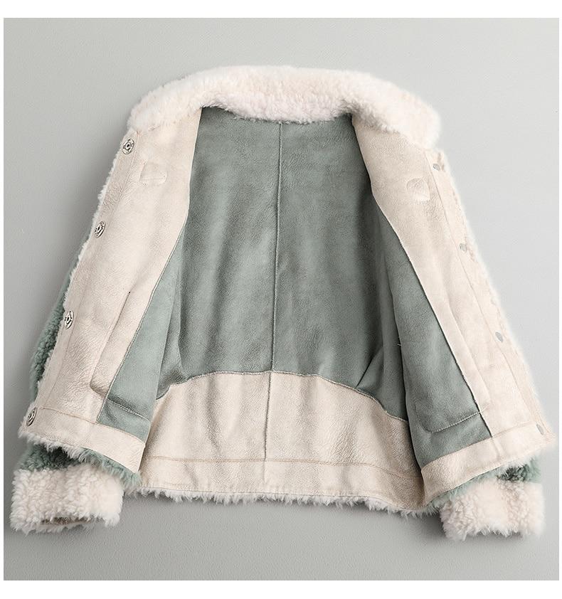 Fur Women's Coat Female Sheep Shearling Wool Coats Winter Jacket Women Clothes 2020 Korean Jackets Manteau Femme MY4223 S S