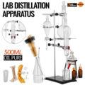 Новый 500 мл лабораторный дистилляционный аппарат эфирное масло чистые наборы приборов из стекла