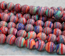 +++819 Wholesale 8mm Multicolor Turkey Turquoise Round Loose Bead 15''(China)