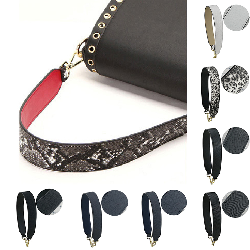 PU Leather Women Bag Strap Metal Button Short Fashion  Handbag Strap Wild High Quality Shoulder Bag Strap New Arrival Bag Belt