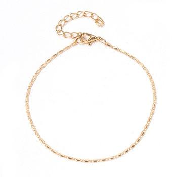 Women Simple Gold Chain Anklet Bracelet Barefoot Sandal Beach Foot Jewelry Bohemian Silver Color Chain Ankle Bracelet on The Leg 2