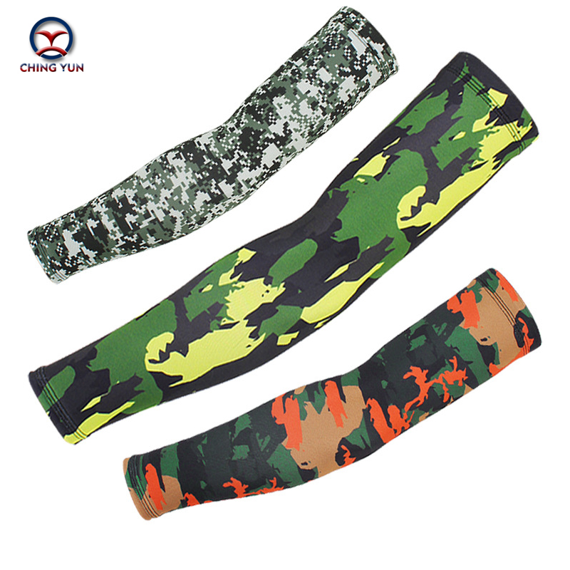 CHING YUN New Army Fan Camouflage Ice Silk Arm Cover Novel Fashion Sport Riding Fishing Unisex Sunscreen Outdoor Fitness