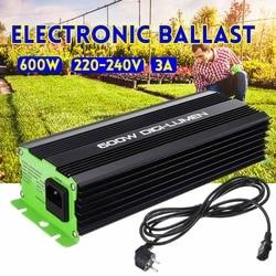 Цифровые шарики 600 Вт для садового плантатора, для выращивания растений, HPS MH, электронные лампы с регулируемой яркостью, европейская вилка, 3...