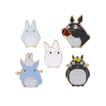 Cute Japanese Anime Miyazaki Hayao Kawaii Cartoon My Neighbor Totoro Brooches Pins Girl Jeans Bag Decoration For Friend japanese anime gray my neighbor totoro plush bed 210cm x 170cm stuffed totoro sleeping bag cute tatami sofa