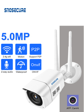 SNOSECURE 4G SIM Card IP Camera 5MP HD Wireless WIFI Outdoor Security Bullet Camera CCTV Metal P2P Onvif Two Way Audio Camhi APP
