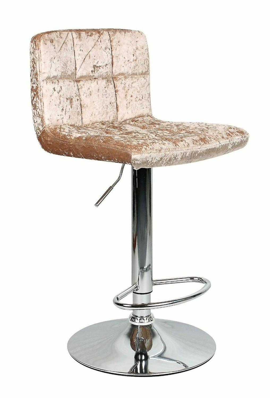 Furniture Chairs 9 Crushed Velvet Bar Stool Cuban Stool Kitchen ...