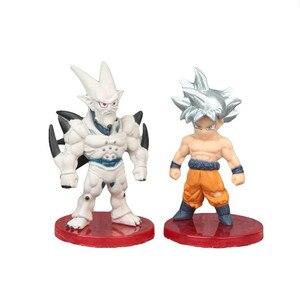 Image 5 - 3 pçs/set Luta Contra a Forma do Anime Dragon Ball Z Super Saiyan Goku Vegeta Preto Figura Coleção Ação PVC Modelo Toy Kid Presente