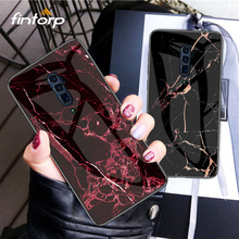 Marble Tempered Glass Case For OPPO A3S A5 A7 F9 F7 F5 Phone Cases On For OPPO Realme 3 F11 Pro Reno Z 10X zoom Cover Case Coque for oppo f5 f7 f9 f11 pro smart mirror flip leather case for a3 a3s a5 a5s a7 ax5 a71 a83 reno 10x z realme 2 3 x c1 c2 k3 a1k