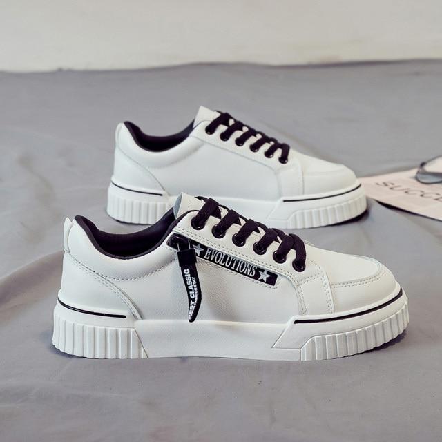 SWYIVY baskets vulcanisées pour femme, baskets blanches vulcanisées, chaussures à plateforme, printemps automne, à lacets