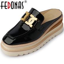 FEDONAS scarpe con plateau moda donna 2021 primavera estate vera pelle vera pelle appesa metallo lavoro ufficio scarpe da donna