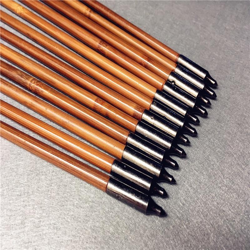 Flechas de bambu artesanais 6 12 24