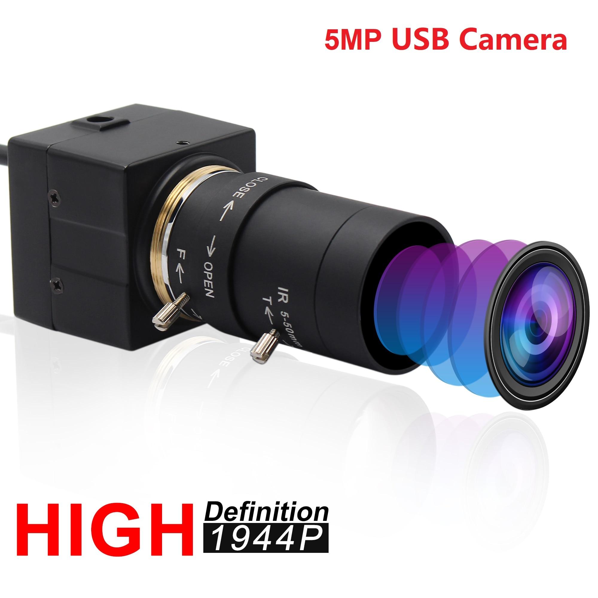5 메가 픽셀 카메라 고해상도 USB 2.0 웹캠 Aptina MI5100 컬러 CMOS 풀 HD 5MP USB 카메라 가변 초점 3D 프린터