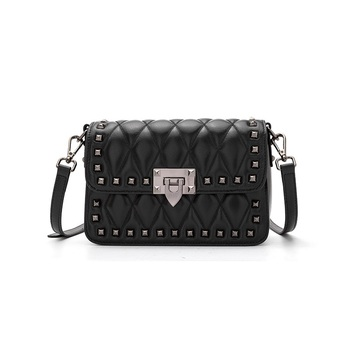 MIWIND Classic Lady Handbag Luxury Brand Famous Satchels for Women Soft Hand Feeling Fashion Rivet Cover Small Messengers Bag