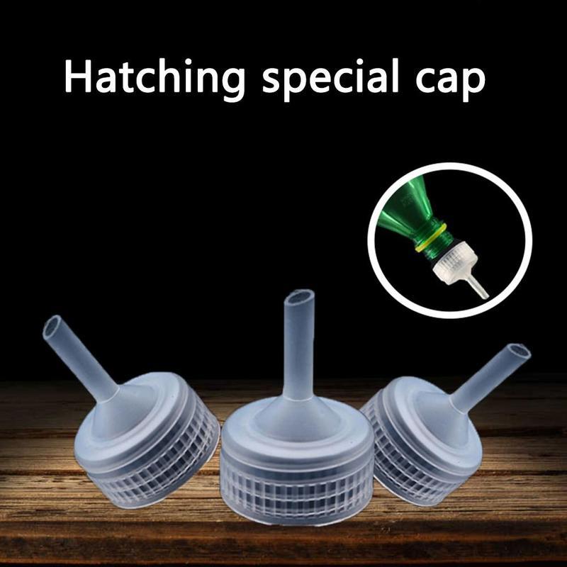 10PCS Aquarium Brine Shrimp Incubator Cap Artemia Hatcher Accessories DIY Bottle System Regulator Valve Kit Pet Supplies
