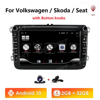 Android 10 8 2din Car GPS Navi for VW POLO GOLF 5 6 POLO PASSAT B6 CC JETTA TIGUAN TOURAN EOS SHARAN SCIROCCO CADDY Autoradio image