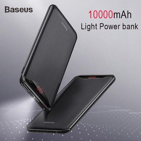 Baseus 10000mAh Power Bank Phone Charger For iPhone X Samsung Huawei Xiaomi Flashlight Digital Display Power Bank Two Usb Output Pakistan