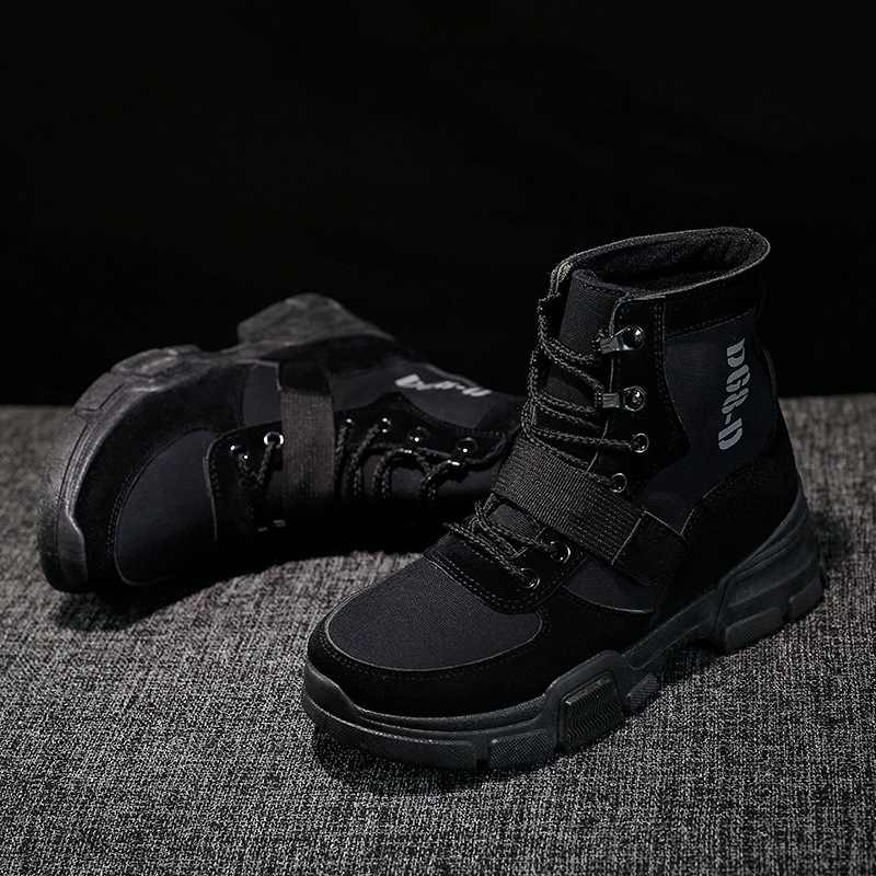 Kadın Çizmeler Kısa kadın ayakkabısı İngiliz Eğilim Tuval Bayan Botları Botas Mujer Kadın Ayak Bileği Botas Kamuflaj