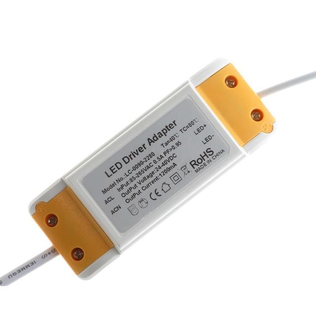 Freeshipping 30W 36W 42W 48W 50W LED Panel light driver adapter AC85 265V Power supply 600mA 1050mA 1450mA Lighting Transformer