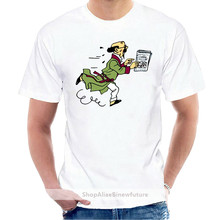 Professor Calculus Tintin Cartoon Comic T Shirt Sleeve T-Shirt Summer Men Tee Tops Mens 100% Cotton Short Sleeve Print @002613