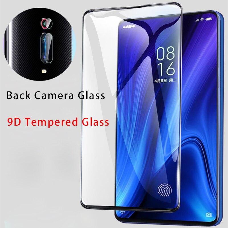 2IN1 9D Screen Protector for Xiaomi Mi A3 A1 A2 Lite Back Camera Lens Film Tempered Glass for Xiaomi Mi CC9 CC9e Pocophone F1
