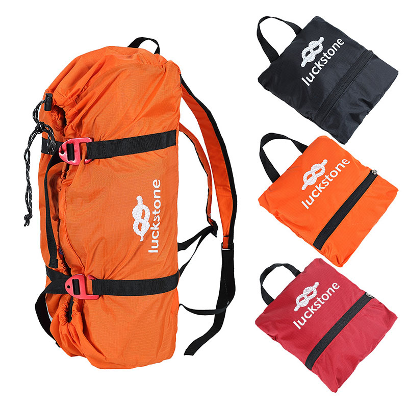 Mountaineering Rope Bags Shouder Strap Ropes Storage Bag Outdoor Climbing Camping Rock Folding Portable Adjustable Waterproof