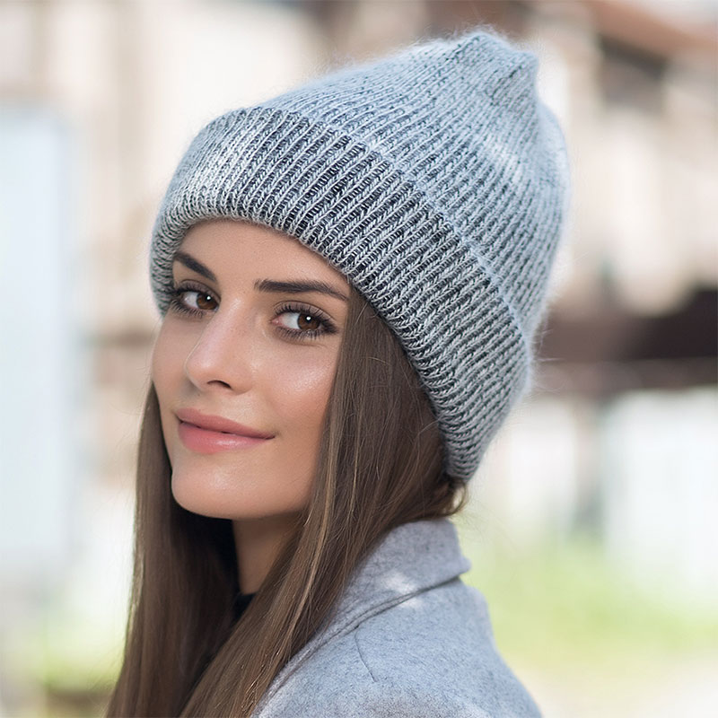Women knitted Winter Hat female Rabbit fur   Beanie   Hat for Women Winter   Skullies   Warm Gravity Falls Cap Gorros Female Cap