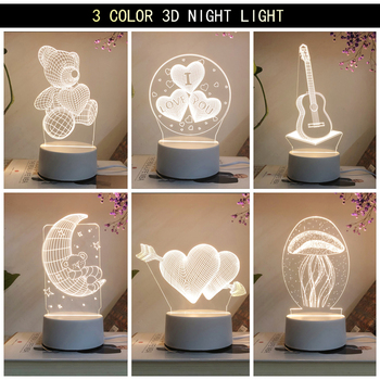 New Acrylic The neon lights 3D stereo Night light Small table lamp Bedside lamp LED lamp Birthday festival children decorate bedroom study 3d light night light festival usb small table lamp originality acrylic atmosphere lamp gift decorate bedside lamp