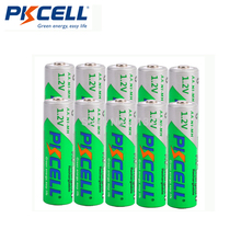 10PCS PKCELL AA 2200MAH battery 1.2V NIMH aa Rechargeable Batteries 2A precharge LSD Batteries Ni MH for Camera toys