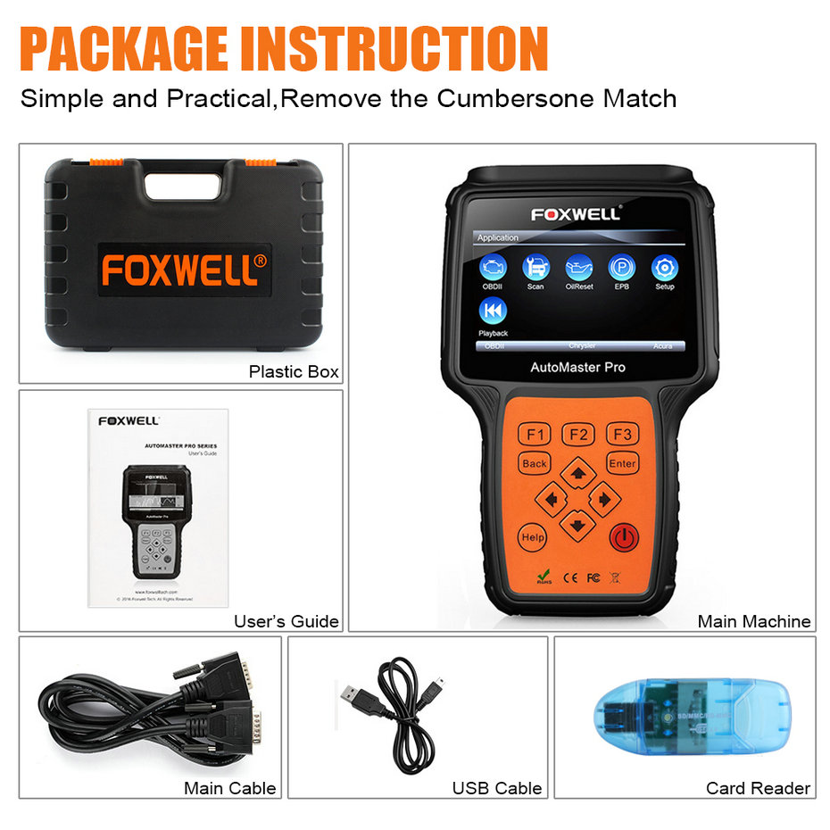 Image 5 - FOXWELL NT624 PRO OBD2 Scanner Engine Airbag SRS SAS EPB Crash Data Oil Reset Full System obd2 Diagnostic Scanner Tool for Car on