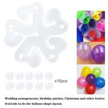 10PCS 5 In 1 Plum Blossom Shaped Balloon Clip Flower Shape Sealing Happy Birthday Party Wedding Balloons Decoration
