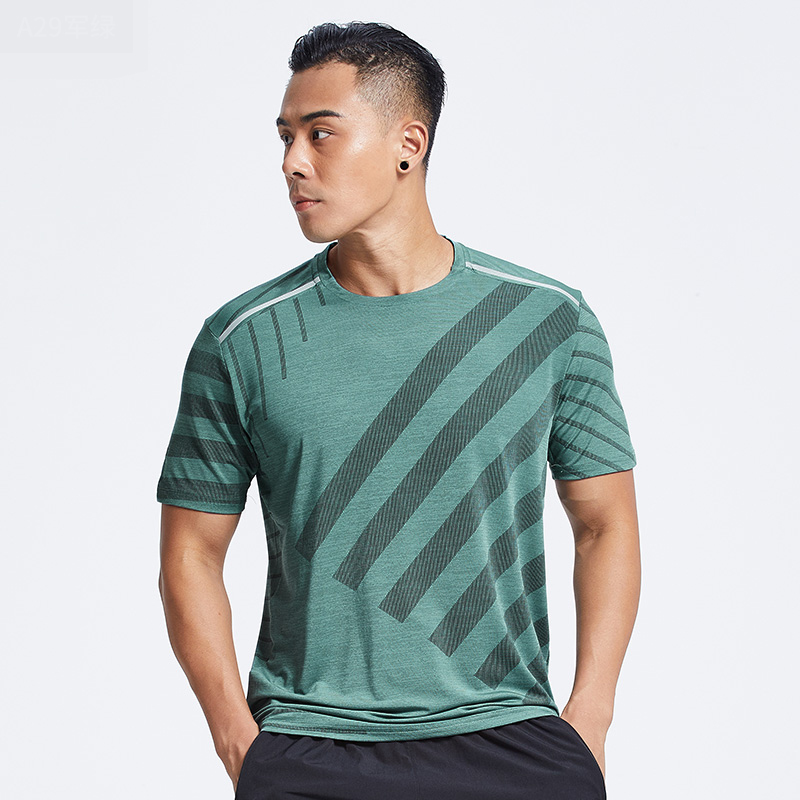 Breathable Loose Plus Size T- shirt men's Creative Simple Round Neck Quick-drying Breathable t shirt Men's Gym Fitness Running
