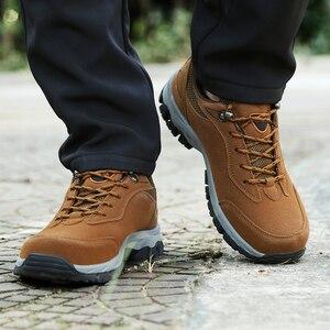 Image 5 - Мужские дышащие ботинки для походов, кемпинга, альпинизма, треккинга, горного туризма, мужские спортивные кроссовки для рыбалки и охоты