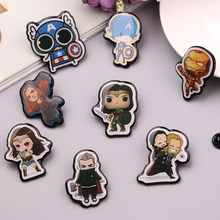 Kartun Avengers Enamel Pin Bros Lucu Captain America Iron Man Wonder Woman Bros Tombol Lencana Pin Hadiah Perhiasan(China)