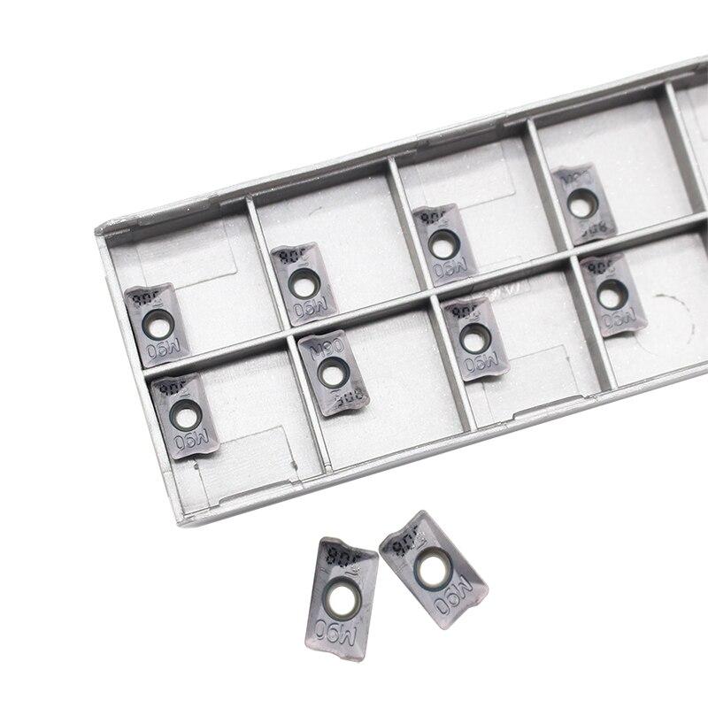 10 PZ HM90 APKT 1003PDR IC908 Utensili per tornitura esterna Inserto - Macchine utensili e accessori - Fotografia 2