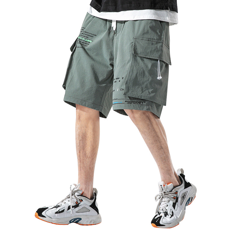 2020 New MenClothing Japanese Sport Breathable Quick Dry Shorts Men Streetwear Casual Shorts Hip Hop Loose Letters Cargo Pants