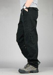 Image 4 - 30 40 yüksek kaliteli erkek kargo pantolon Baggy rahat erkekler taktik pantolon çok cep askeri genel erkek açık havada uzun pantolon ordu