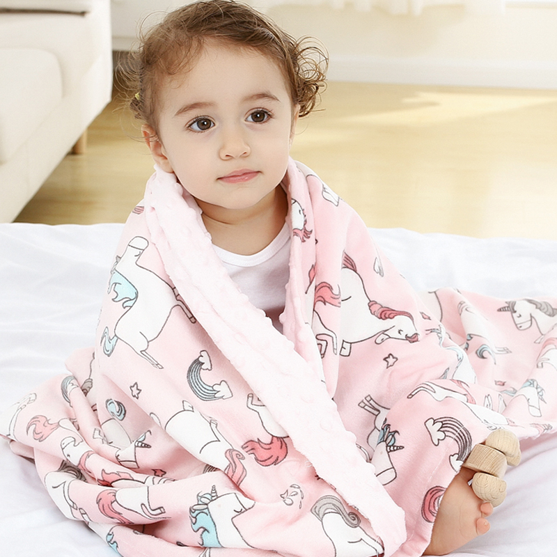 High Quality Baby Blanket Winter Flannel Fleece Flamingo Blanket Infant Swaddle Stroller Wrap For Newborn Baby Bedding Blankets