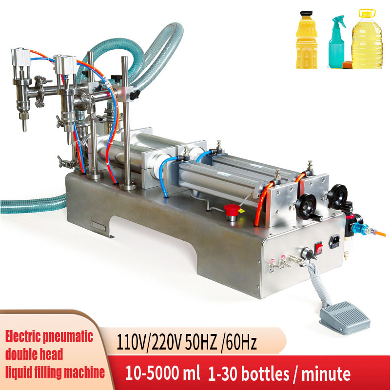 Horizontal Pneumatic Liquid FIlling Machine Automatic FIlling Machine Shampoo Wine Beverage LIquid Machine