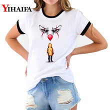 Women 3D T Shirts Joker Print Tees Funny Graphic Summer Hip Hop Short Sleeve Halloween White Casual Couple Clothes