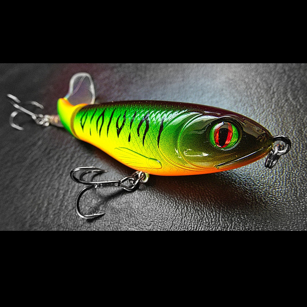 1pcs New Quality 9cm 17g Whopper Plopper Topwater Floating Fishing Lure Artificial Hard Popper Bait Soft Rotating Tail 8 Colors