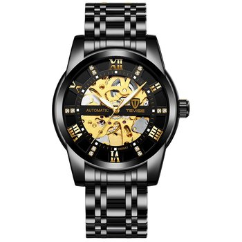 цена TEVISE Luxury Noble Men'S Trend Watch Fashion Automatic Mechanical Watch Hollow Watch Waterproof Men'S Watch Men Watches T9005A онлайн в 2017 году