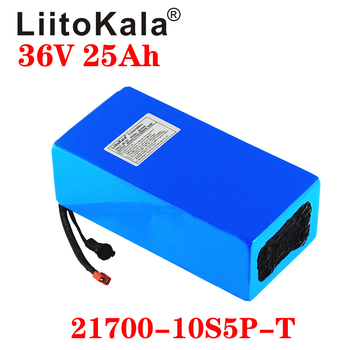 LiitoKala 21700 battery 36V 30Ah 25ah 20AH 15ah battery pack 500W high power battery 42V Ebike electric bicycle BMS image