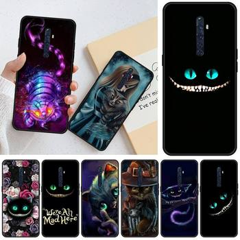 Перейти на Алиэкспресс и купить Jemy Алиса в стране чудес Чеширский кот шикарный Милый чехол для телефона для OPPO R11 11S plus RENO 2Z R15pro R17pro Realme 2 3 3 5 5pro C2