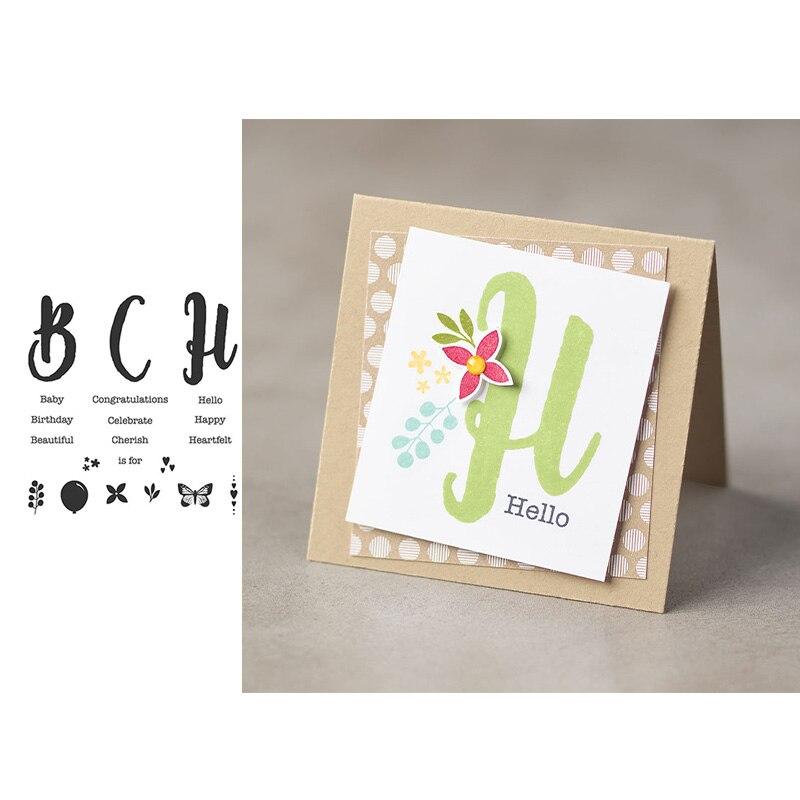 ЙК прозрачный резиновый марки ВСН английский письма силиконовые уплотнения для скрапбукинга листа бумаги модель DIY карточки сделать ремесло декор шаблон